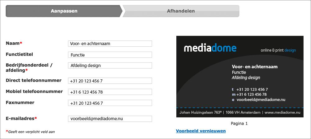 Business card portal
